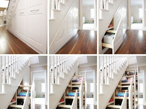 Image Credits: http://dornob.com/stair-into-space-5-custom-under-staircase-storage-systems/